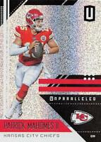 2018 Panini Unparalleled NFL Football Cards Pick From List 1-150 With Rookies