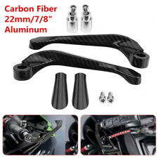 "Carbon Fiber Motorcycle Aluminum 7/8"" Brake Clutch Levers Protection Handguard"