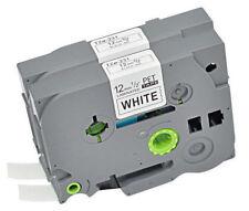 2PK Black on White TZe-231 TZ 231 Brother P-Touch Label Make Tape Laminate 12mm