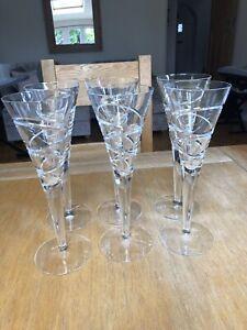 Jasper Conran Aura Wine Goblets/Champagne Flutes. Excellent condition.