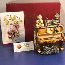 HARMONY KINGDOM ORIGINAL BOX FIGURINE CLAIR DE LUNE PIANO PEEZER PAWS PO POS CAT