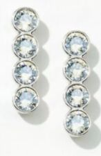 touchstone crystal by swarovski To A Point crystal earrings new in box