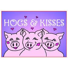 "HOGS & Kisses FRIGO CALAMITA 3 ""x 2"" suini"