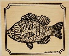 Northwoods rubber stamps Blue Gill In Notched Frame Father's Day Fish