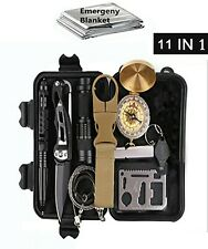 Survival kit 11 in 1 Set Outdoor Camping Travel Multifunction First aid SOS EDC