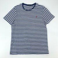 Polo Ralph Lauren Slim Fit T-Shirt Men's Size L Blue/White Short Sleeve Striped