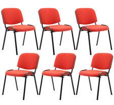 6er Set Besucherstuhl Ken Stoff Praxis Wartezimmer Stuhl rot