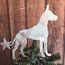 Great Dane, Christmas Tree Topper, Metal Dog, Art, Handmade, Decor, Holiday