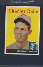 1958 Topps #376 Charley Rabe Reds NM *1083