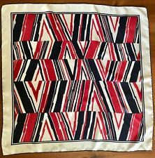 Ashear Red, White, And Navy Silk Scarf From Italy