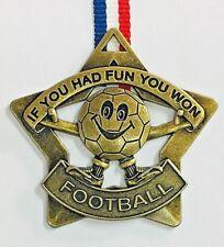 Star Football Gold Metal Medal Ribbon
