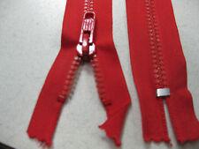 No 8 plastic teeth CLOSEDend zip 35 cm RED @ $1.50 each Single tab locking slide
