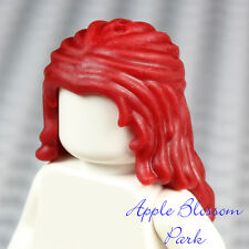 NEW Lego Female Minifig LONG DARK RED HAIR - Girl Friends Short Braid Head Gear