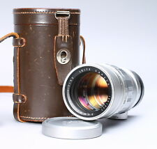 [EX+] LEICA LEITZ SUMMICRON 90MM F/2 LENS FOR M RANGEFINDER W/ LEATHER CASE