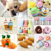 For Dogs Chews Bite Training Play Pet Puppy Chew Squeaker Plush Sound Toys