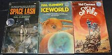 Lot of 3 Hal Clement Science Fiction Books Space Lash Cycle of Fire Iceworld