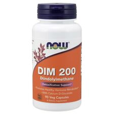 Now Foods Dim 200 Diindolylmethane - 90 Vegicaps Made in USA FREE SHIPPING