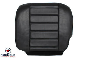 2005 Hummer H2 SUT SUV Heated Seats -Driver Side Bottom Leather Seat Cover Black