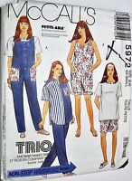 McCall's Sewing Pattern# 5972 Maternity Jumpsuit Shirt Pants Shorts Choose Size