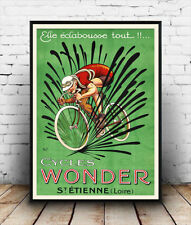 Cycles wonder. , vintage  French Cycle advertising poster reproduction.