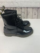 Doc Martens Patent Leather 1460 8 Eye Lace Up Boots Womens Size 8