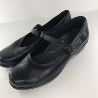 SAS Women's Size 11 WW Shoes Tripad Comfort Black Leather Mary Jane Buckle Strap