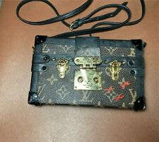 Louis Vuitton Monogram Leather Petite Malle Trunk Bag