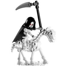C139 Lego Castle Skeleton Reaper Minifigure with Skeleton Horse NEW