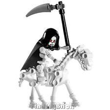 C139 Lego Castle Skeleton Reaper Minifigure with Skeleton Horse NEW