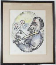 1965 Vintage CHAIM GROSS Framed+Matted Hand-Signed & Numbered Judaica Print