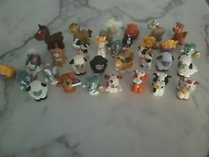 Fisher Price Little People Farm Lot of 31 Animals Horse Sheep Cow Rabbit Kittens