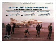 AOA decals 1/32 VF-143 PUKIN' DOGS TAPROOM 102 - USN F-4J Phantom in Vietnam War
