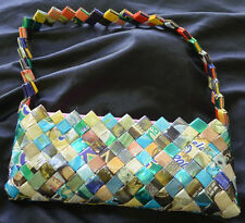 Nahui Ollin Candy Wrapper Purse Shoulder Bag NEW Blue Green