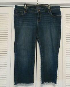 Lucky Brand Georgia Straight Leg Raw Hems Stretch Jeans sz 16WP / 16 W Petite