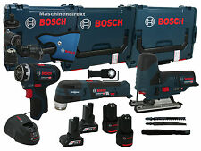 Bosch Akku Bohrschrauber GSR 12V-15 FC FlexiClick + Akku Multi Cutter GOP 12V-28