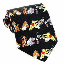 Disney Pooh's Honey Pot Mens Neck Tie Winnie Pooh Milne Cartoon Gift Necktie