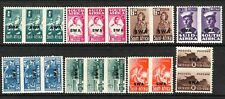 SOUTH WEST AFRICA 1943 SET 8  MLH BILINGLE PRS