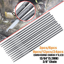 "12x 13/64"" 5.2mm Chainsaw Chain Round Files 3/8"" Suits Stihl BAUMR-AG Sharpening"