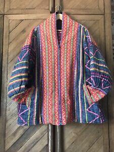 XL Thai? Embroidered/Black Reversible Jacket Festival