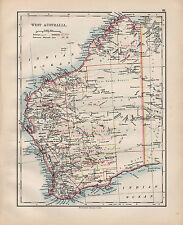 1900 VICTORIAN MAP ~ WEST AUSTRALIA SHOWING GOLDFIELDS