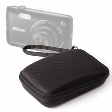 Hard Shell Case in Black with Ultra-Soft Lining for Nikon Coolpix A300 Camera