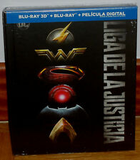 League of Justice Digibook Blu-Ray 3D +Blu-Ray +Book Sealed (Sleeveless Open) R2