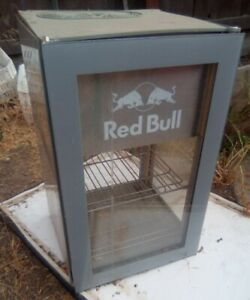 Red Bull Energy Drink Cooler Mini Fridge Table Top  Refrigerator parts as/is