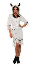 White Native American Buffalo Spirit Fancy Dress  Costume Ladies Outfit Uk 12-14