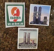 9/11 9-11 NWO illuminati TRUTHER Political Stickers Lot 3 World Trade Center NYC