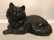 Antique Hubley 335 Fireplace Hearth Stove Cast Iron Doorstop Cat Statue