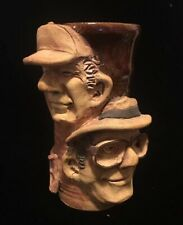 The Muggers Bartles & Jaymes Coffee Mug Cup Pottery Stoneware 3D Face Gallo