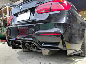 4 PCS PSM STYLE CARBON REAR DIFFUSER SPOILER FOR BMW F80 M3 F82 M4 ONLY