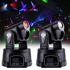 2x 15W DMX TESTA MOBILE RGB LED Faretto effetto luce luci PAR DJ scanner festa