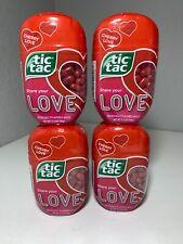 New Tic Tac Cherry Love Flavor 4- 3.4oz Packs Expires 12/1/20 Lot